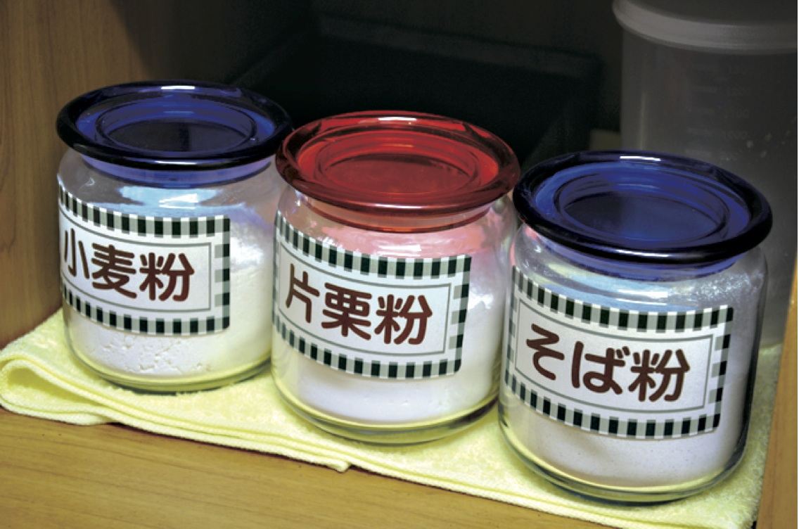 常備粉 -ご家庭で常備する粉として『小麦粉、片栗粉、そば粉!』はいかがでしょうか!?