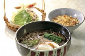 いなべ産椎茸と海老の天ぷらそば