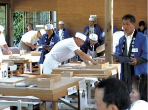 素人そば打ち段位認定試験(兵庫県三田市)