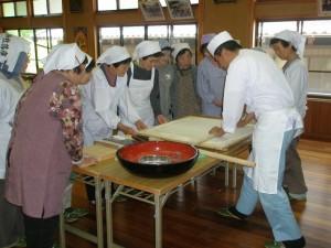 山口自治会そば打ち体験 (2008年5月13日)