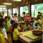 青川峡キャンピングパークそば打ち体験 (2008年6月22日)