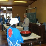山口老人会そば打ち体験 (2009年2月15日)