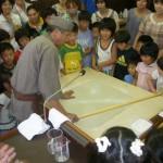 阿下喜こども会そば打ち体験(2011年8月7日)