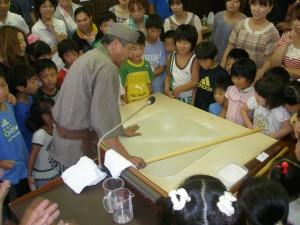 阿下喜こども会そば打ち体験 (2011年8月7日)