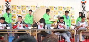 そば早食い大会 (2014年11月9日-第5回いなべの里新そば祭り)